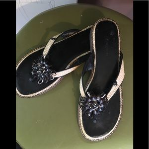 """Brighton"" Limited Edition Sandals. Leather +Fiber"
